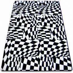 Carpet SKETCH - F756 white/black - chequered