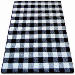 Sketch szőnyeg - F759 fehér/fekete- Rács