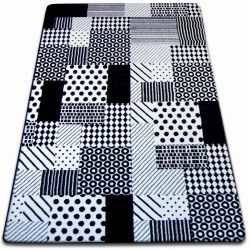 Dywan SKETCH - F760 biało/czarny - Kratka
