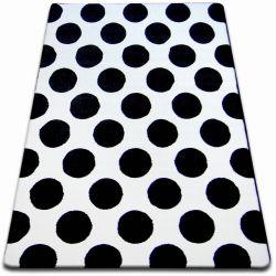 Sketch szőnyeg - F761 fehér/fekete- Körök