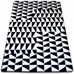 Килим SKETCH - F765 біло-чорний гриль