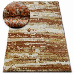 Kulatý koberec SHADOW 9368 zlato / rez