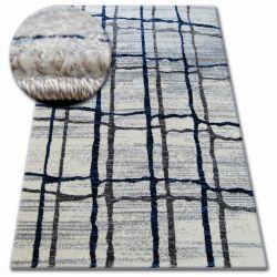 Kulatý koberec SHADOW 9359 bílá / modrý