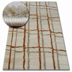 Kulatý koberec SHADOW 9359 krém / rez