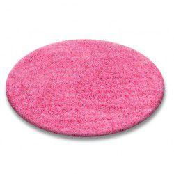 Koberec kruh SHAGGY 5cm růžový