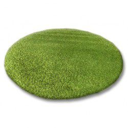 Covor rotund Shaggy 5cm verde