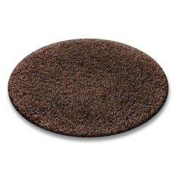 TAPPETO cerchio SHAGGY 5cm marrone