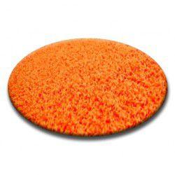 Shaggy szőnyeg kör 5cm narancs
