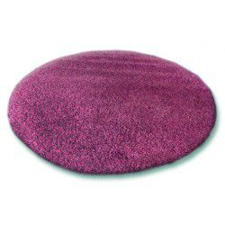 Carpet round SHAGGY 5cm purple