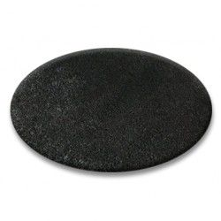Carpet round SHAGGY 5cm black