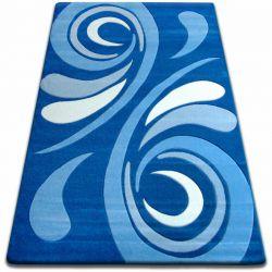 Килим FOCUS - 8695 синій хвиля