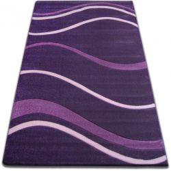 Koberec FOCUS - 8732 tmavě fialová čáry LINKA VLNY