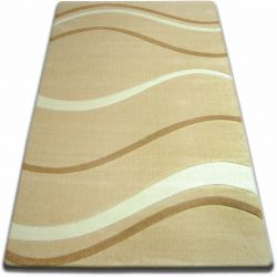 Koberec FOCUS - 8732 česnek VLNY LINKY béžový zlatý