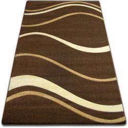 Alfombra FOCUS - 8732 Olas Líneas marrón/wengué/chocolate