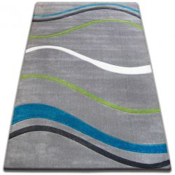 Carpet FOCUS - 8732 turquoise WAVES LINES marine