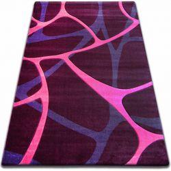 Teppich FOCUS - F241 violett NETZ Spinnennetz