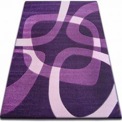 Килим FOCUS - F242 темний фіолетовий квадрати