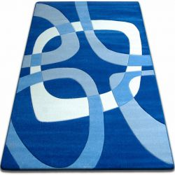 Koberec FOCUS - F242 modrý čtverec čtyřúhelník