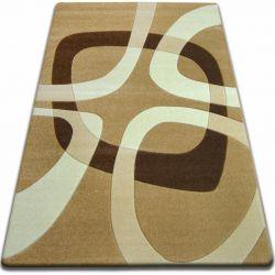 Carpet FOCUS - F242 beige SQUARE quadrangle cappuccino