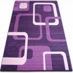 Килим FOCUS - F240 темний фіолетовий квадрати