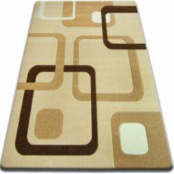 Carpet FOCUS - F240 garlic SQUARES beige gold