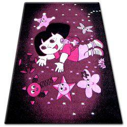 Pilly szőnyeg 7818 - lila/fekete