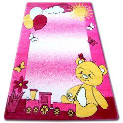 Teppich für Kinder HAPPY C210 rosa Teddybär
