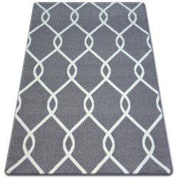 Tappeto SKETCH - F934 grigio/bianco trellis