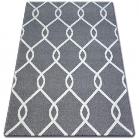 Carpet SKETCH - F934 grey /white trellis