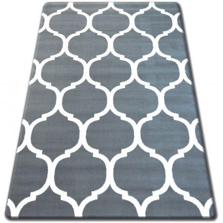 Tappeto BCF FLASH 33445/167 marocco trifoglio trellis grigio