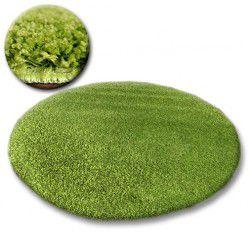 Covor rotund Shaggy Galaxy 9000 verde