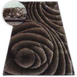 Carpet Shaggy SPACE 3D B217 d.brown
