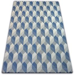 Teppich FLAT 48624/951 SISAL - 3D-Würfel
