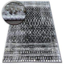 Kulatý koberec SHADOW 9890 vizon / černá